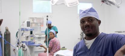 Dr. Guerrier in the OR