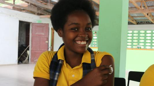 Smiles after HPV vaccination