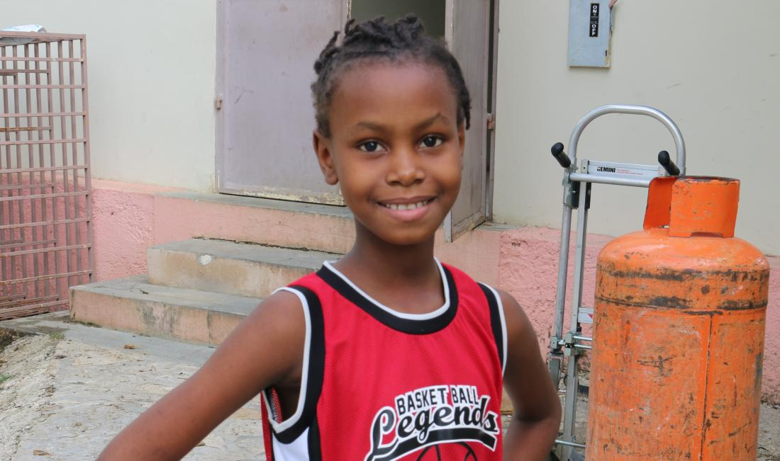 Tika healthy again after receiving lifesaving health care at St. Boniface Hospital in Haiti