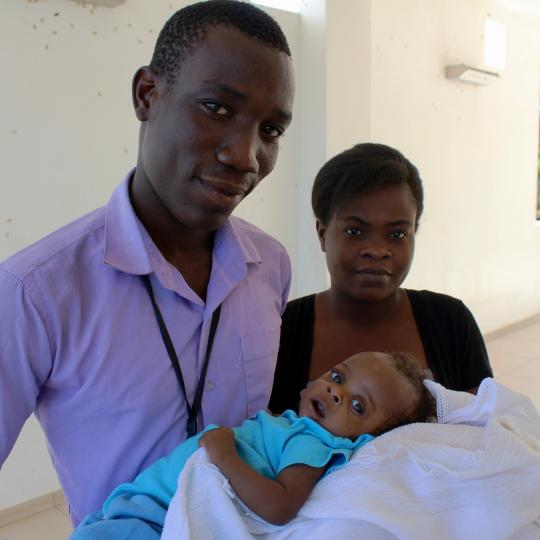 Lucia and her parents visit for a checkup