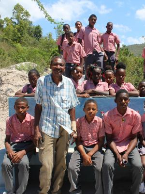ChaCha School headmaster and students